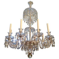 19th Century English Crystal Chandelier