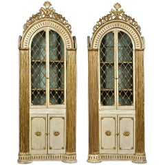 Pair of Italian Neoclassical Library Cabinets or Bookcases