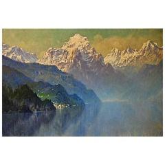 """Lake Como"" by Hezekiah Anthony Dyer (American, 1872-1943)"