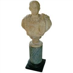 Roman Grand Tour Alabaster Bust of a Caesar