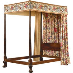 Important Chippendale Mahogany Canopy Bed