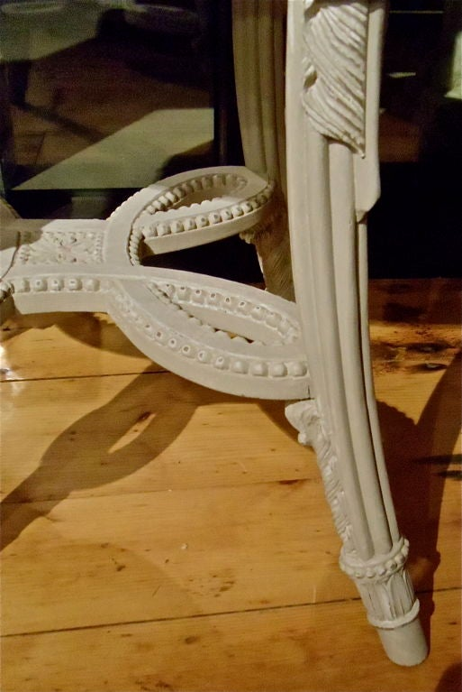 PAIR of Neoclassical Painted Marble Top Gueridons or End Tables For Sale 1