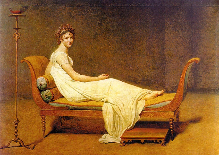 French Fainting Couch Identical to That of Madame Juliette Recamier