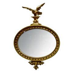 Period American Gilt Wood Federal Eagle Mirror