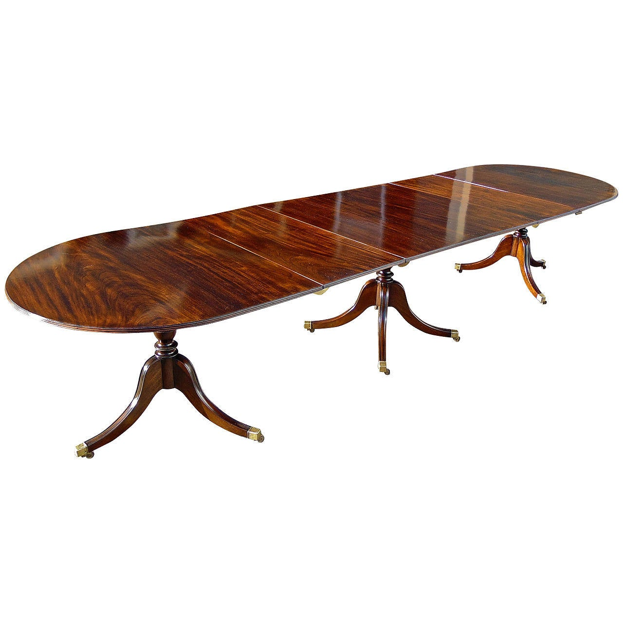 Solid mahogany regency dining table of narrow width at 1stdibs for Dining table width