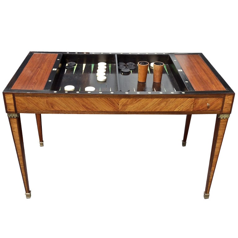 period louis xvi tric trac or backgammon table at 1stdibs. Black Bedroom Furniture Sets. Home Design Ideas