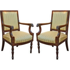 Important Pair Of Empire Tabourets Supplied To The