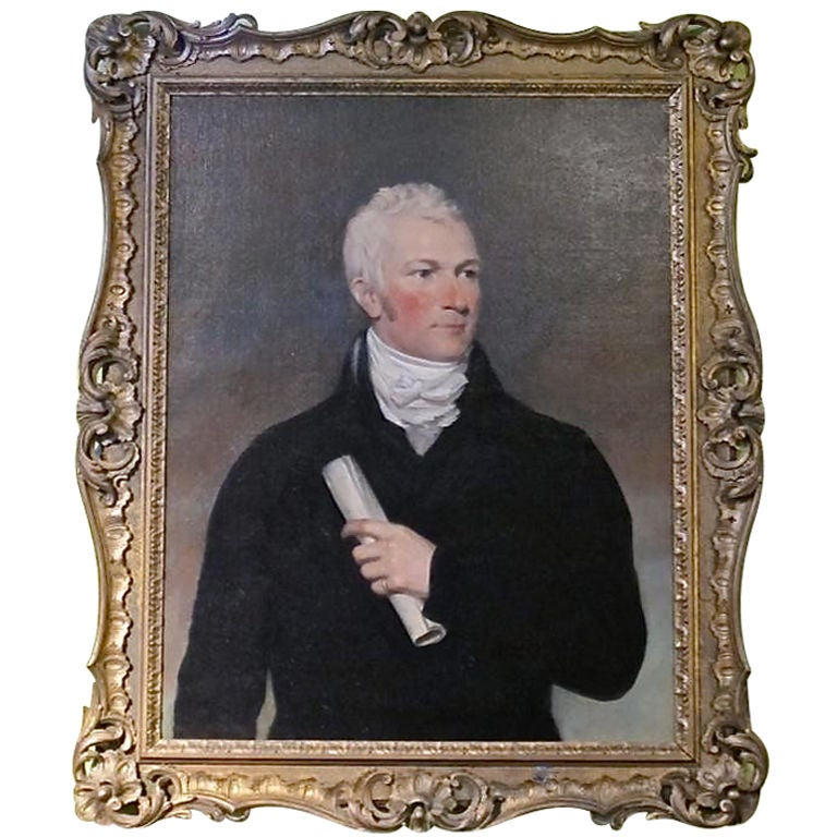 Period Portrait of a Handsome American Gentleman For Sale