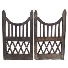 Pair of Nineteenth Century Wooden Garden Gates