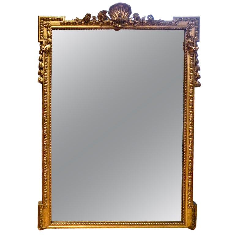 Large louis xvi style neoclassical mirror for sale at 1stdibs for Big mirrors for sale