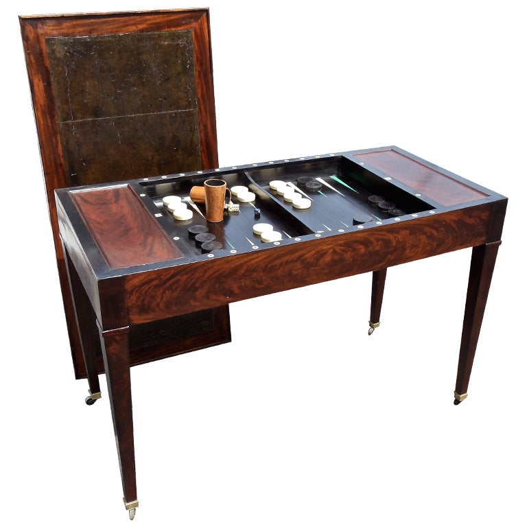 Period First Empire Tric Trac Or Backgammon Games Table At