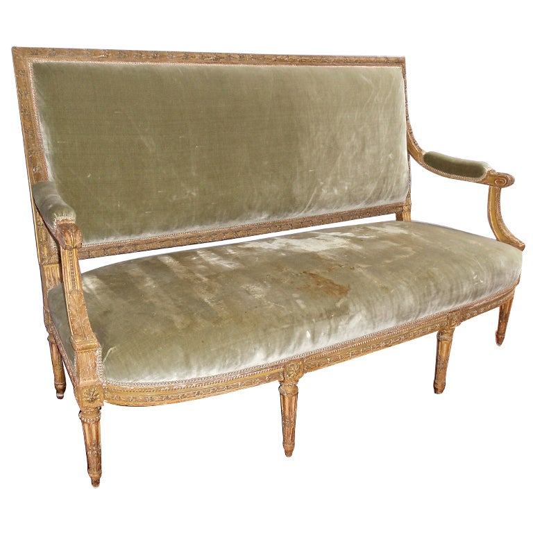 Louis Xvi Carved And Gilt Wood Sofa At 1stdibs