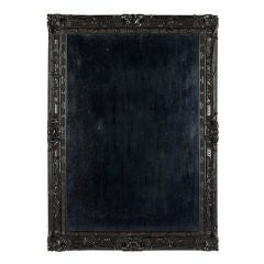 An Anglo Indian Ebony Rococo Revival Pier Mirror