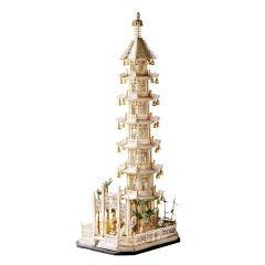 A Rare Chinese Export Bone Pagoda