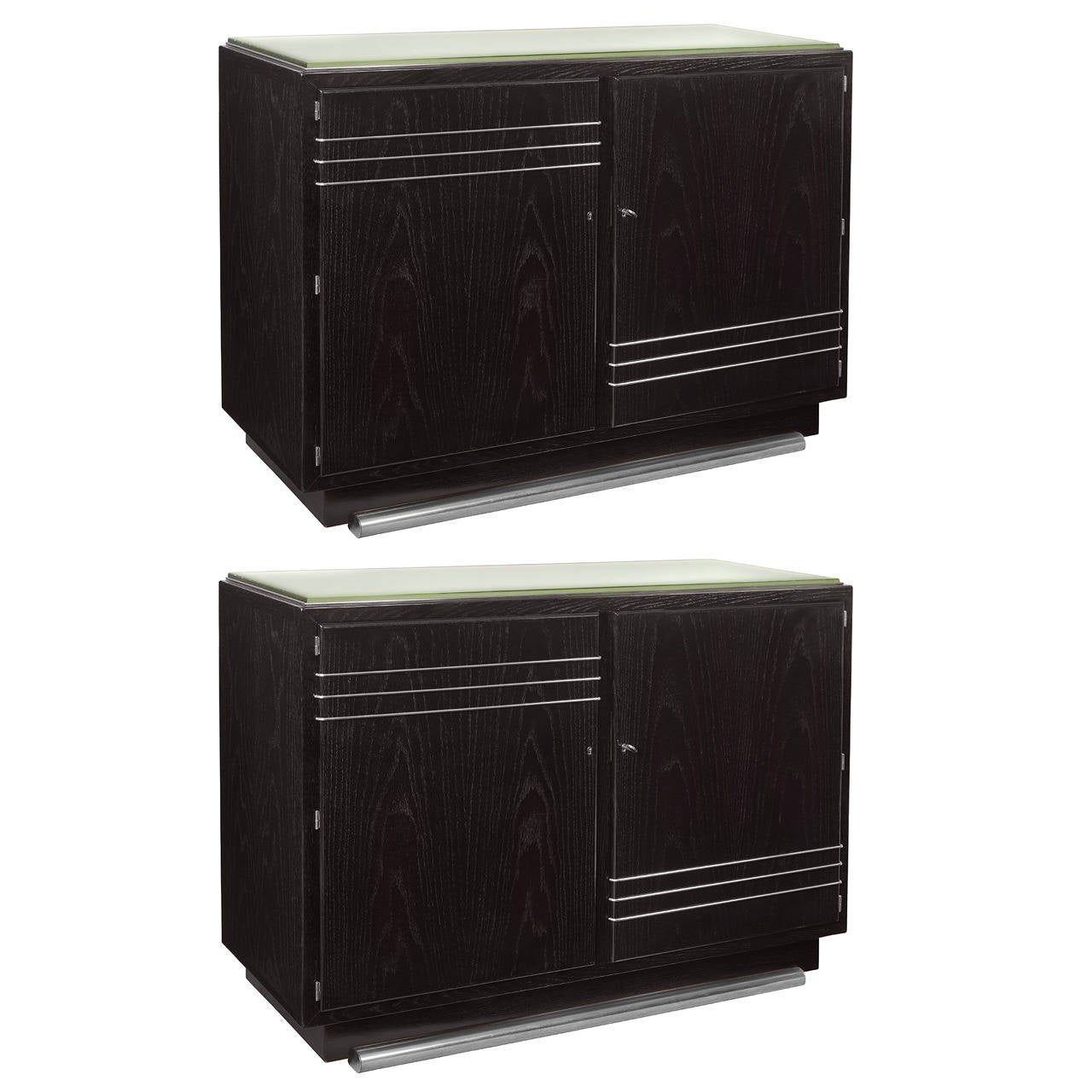 oak cabinets pair of deco ebonized oak cabinets at 1stdibs 23831