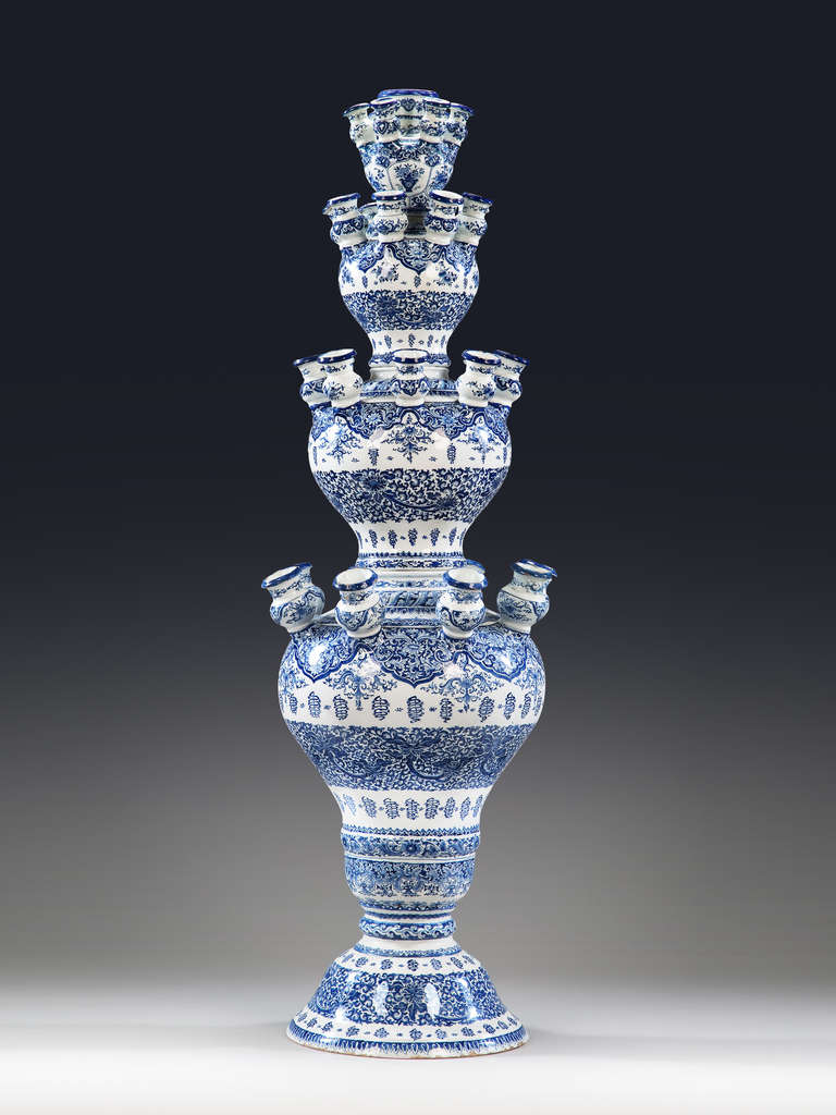 Delft Blue And White Tulipiere At 1stdibs