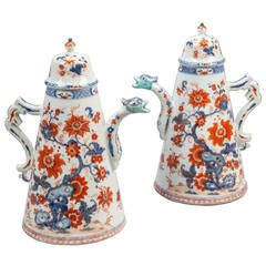 Pair of Chinese Export Chocolate Pots and Covers