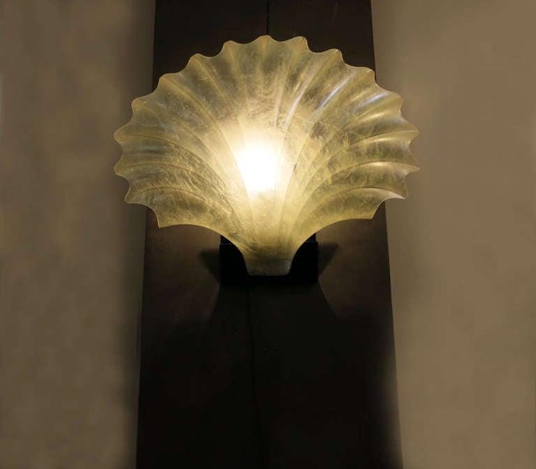 Acrylic Shell Wall Light at 1stdibs