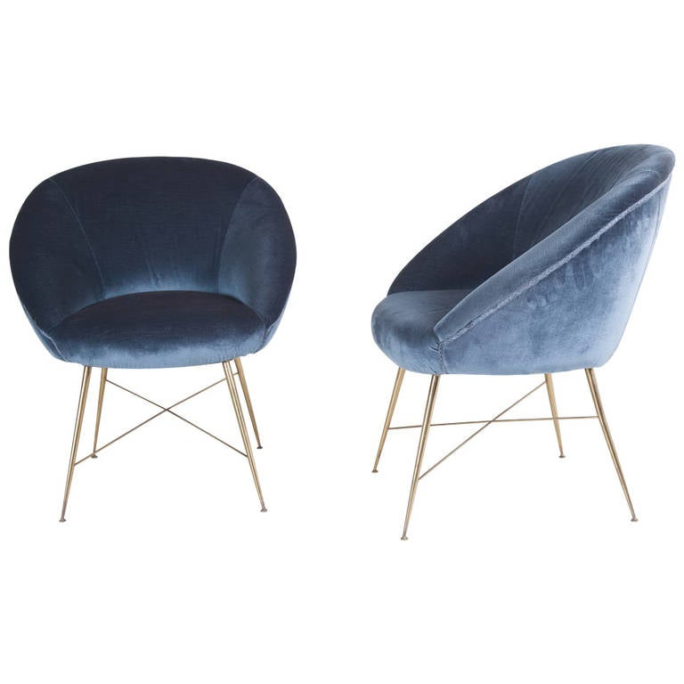 Silvio Cavatorta Pair Of Armchairs At 1stdibs