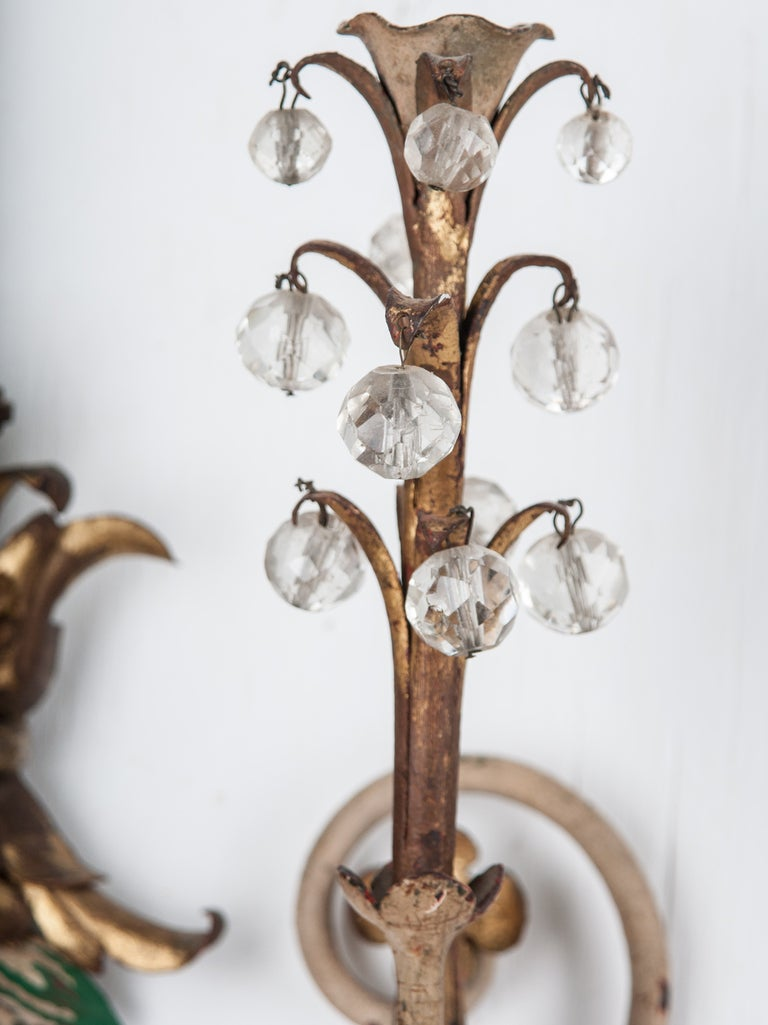 Italian Made Wall Sconces : Italian Pair of 1920s Painted Wall Sconces at 1stdibs
