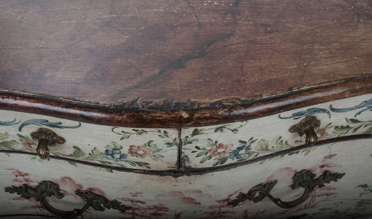 20th Century Italian 19th Century Painted Bombe Chest For Sale