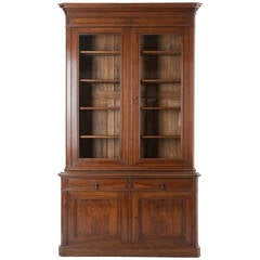 French 19th Century Walnut Louis Philippe Buffet a Deux Corps
