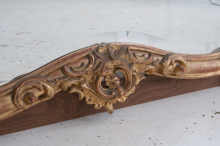 Louis XV Style Rocco Gilt Wood Mirror For Sale 2