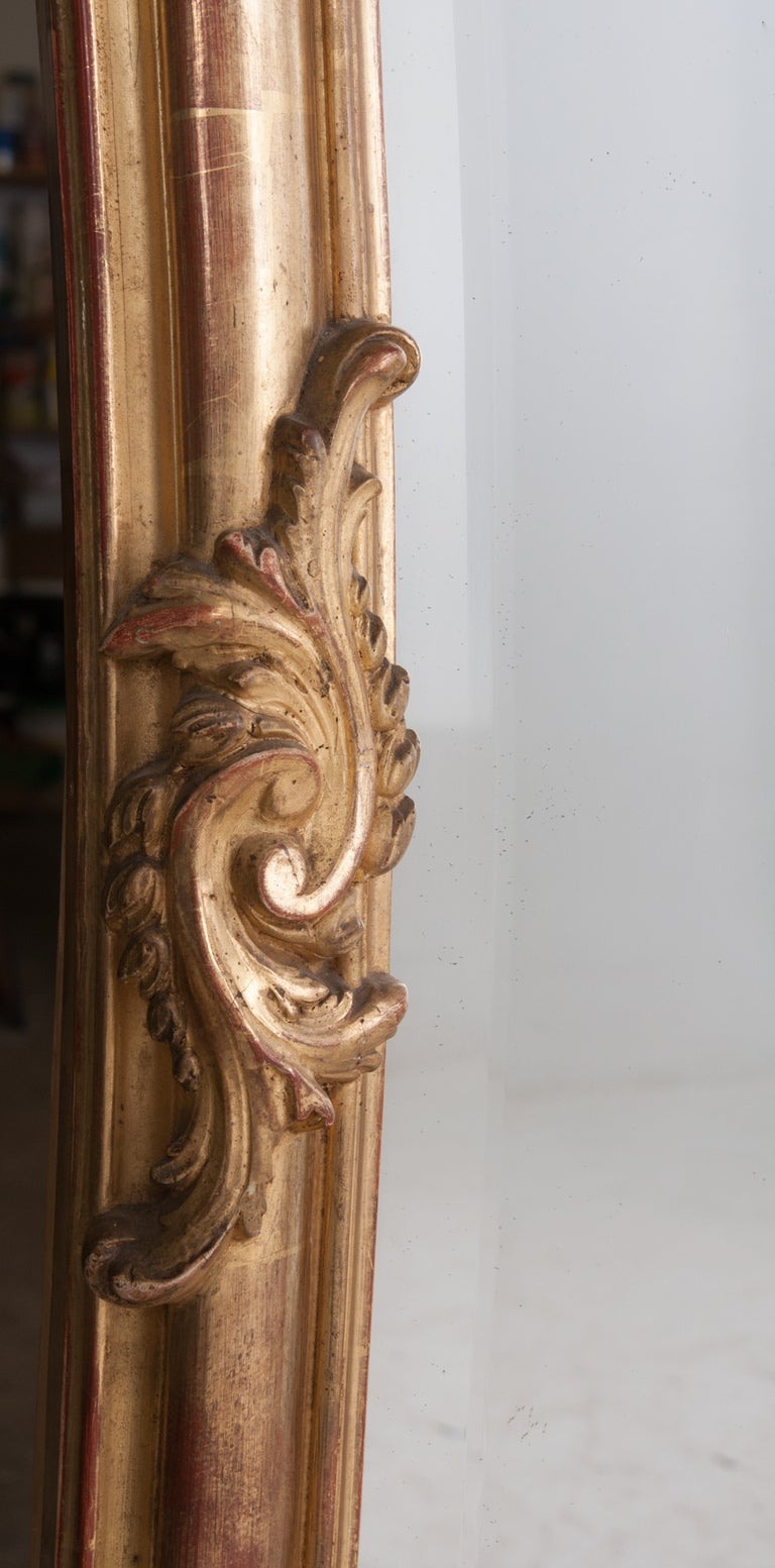 Louis XV Style Rocco Gilt Wood Mirror For Sale 4