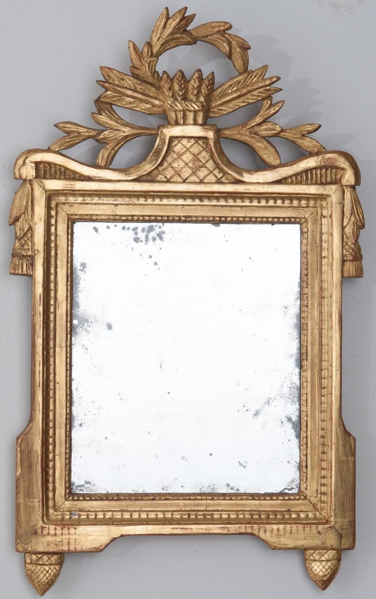 Louis XVI Style 18th Century Gilt-Wood Mirror In Good Condition In Baton Rouge, LA