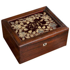 "French 19th Century ""JB"" Rosewood Box"