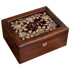 "French 19th Century ""JB"" Rosewood Box"