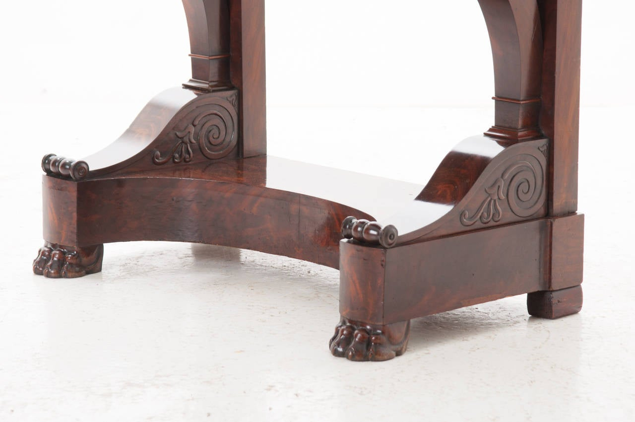 French 19th Century Mahogany And Marble Empire Console At 1stdibs