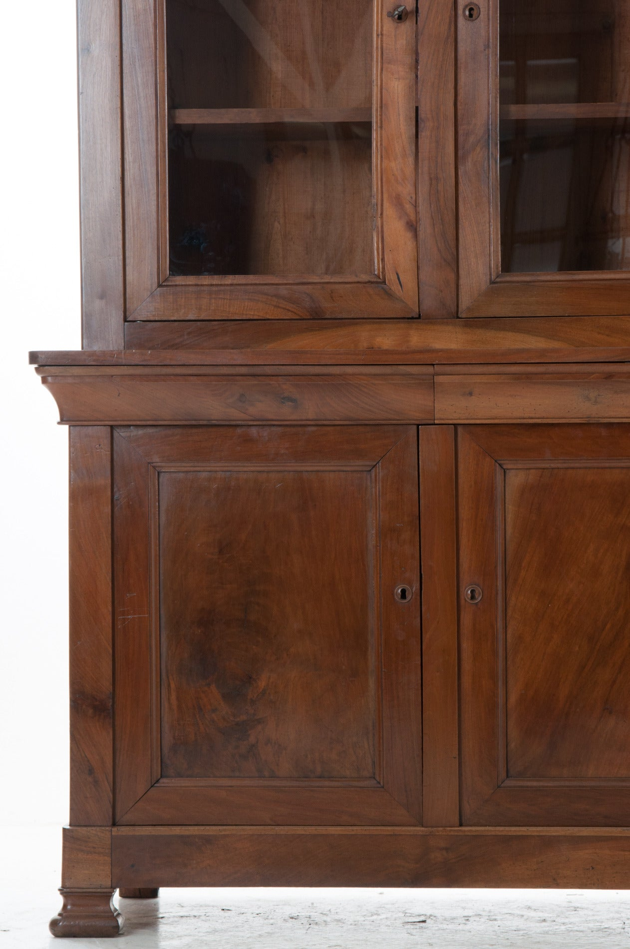 Louis Philippe Open Bookcase: French 19th Century Louis Philippe Bookcase Or Buffet At