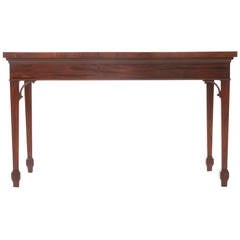 English 19th Century Mahogany Serpentine Server or Console