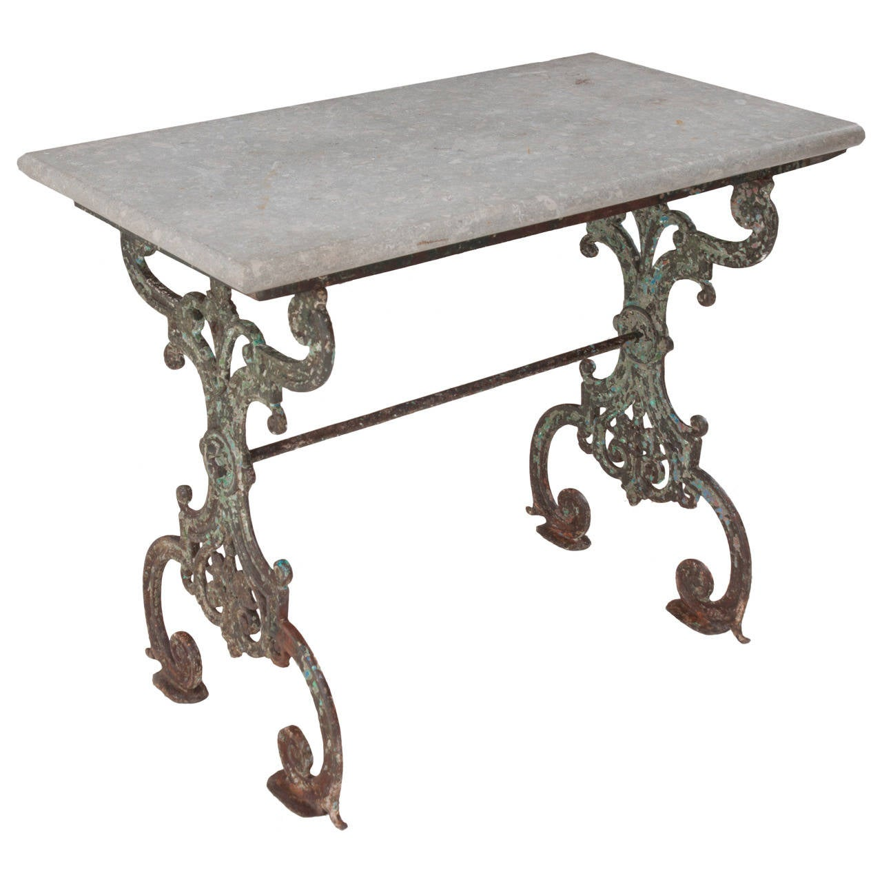 French 19th Century Cast Iron Garden Table At 1stdibs