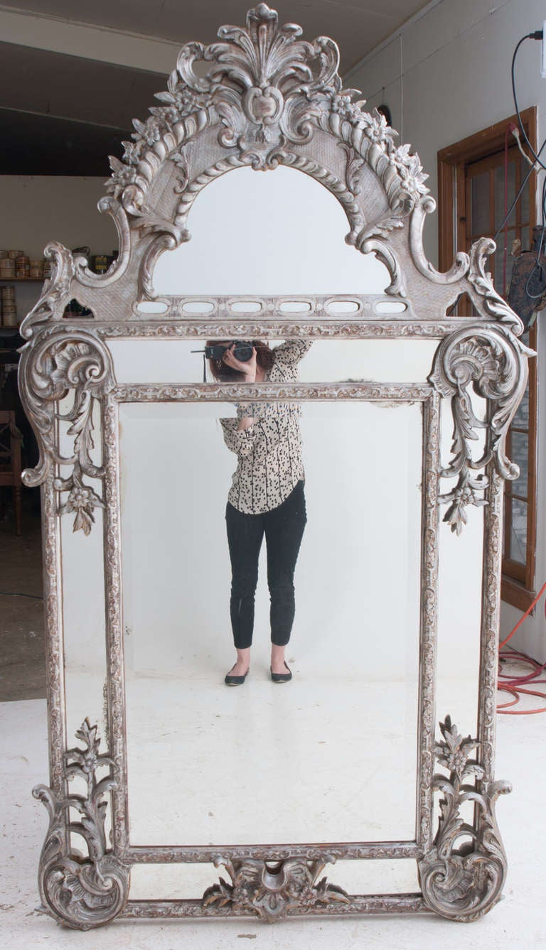 Baroque Wall Mirror french silver gilt baroque parclouse mirror for sale at 1stdibs