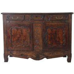 French 19th Century Burled Wood Buffet