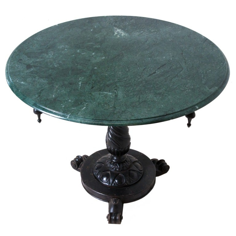 Russian 19th century marble top pedestal table at 1stdibs for Th 37px60b table top stand