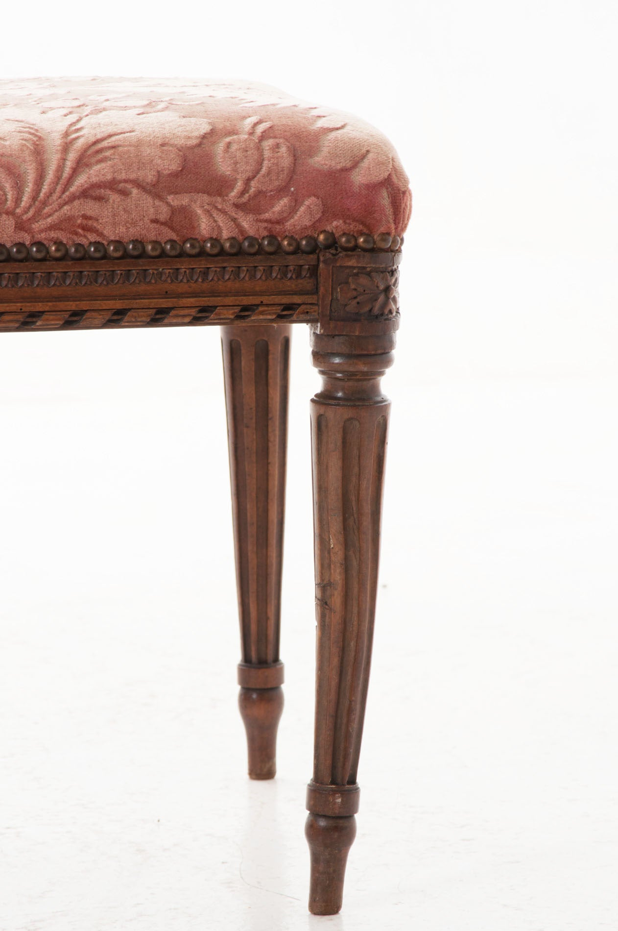 French 18th Century Louis Xvi Walnut Bench At 1stdibs