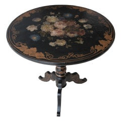 English Painted and Lacquered Pedestal Table