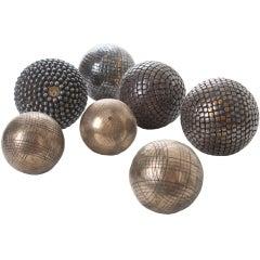 Set of 7 Heavy Metal Boule Balls