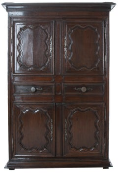 French 18th Century Dark Oak Cupboard