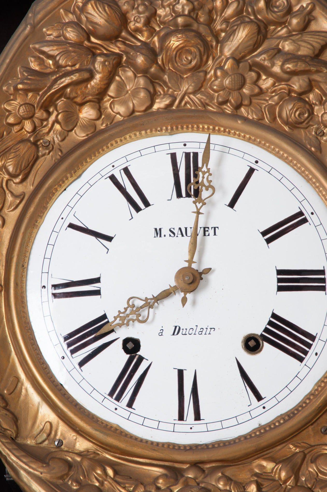 French 19th Century Oak Tall Case Clock In Good Condition For Sale In Baton Rouge, LA