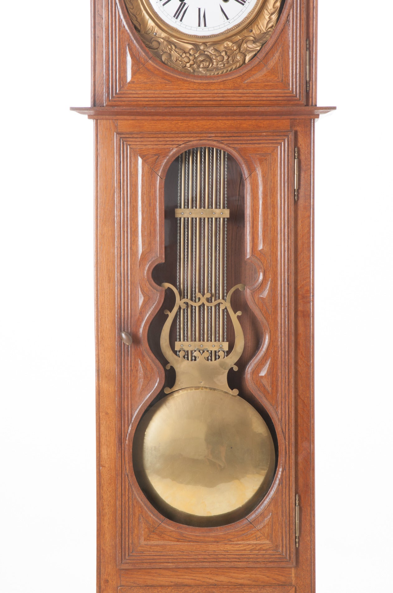 French 19th Century Oak Tall Case Clock For Sale 1