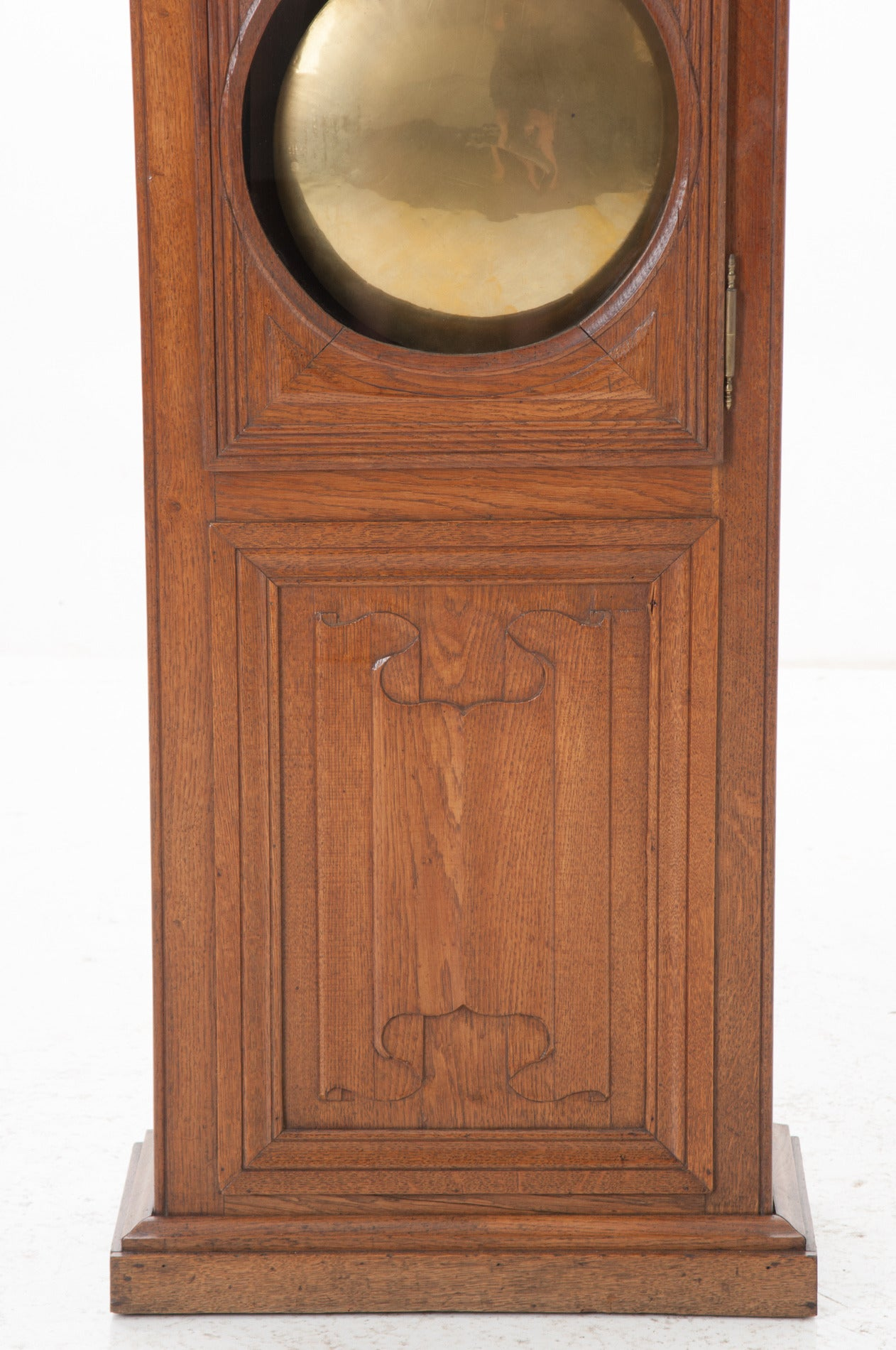 French 19th Century Oak Tall Case Clock For Sale 2