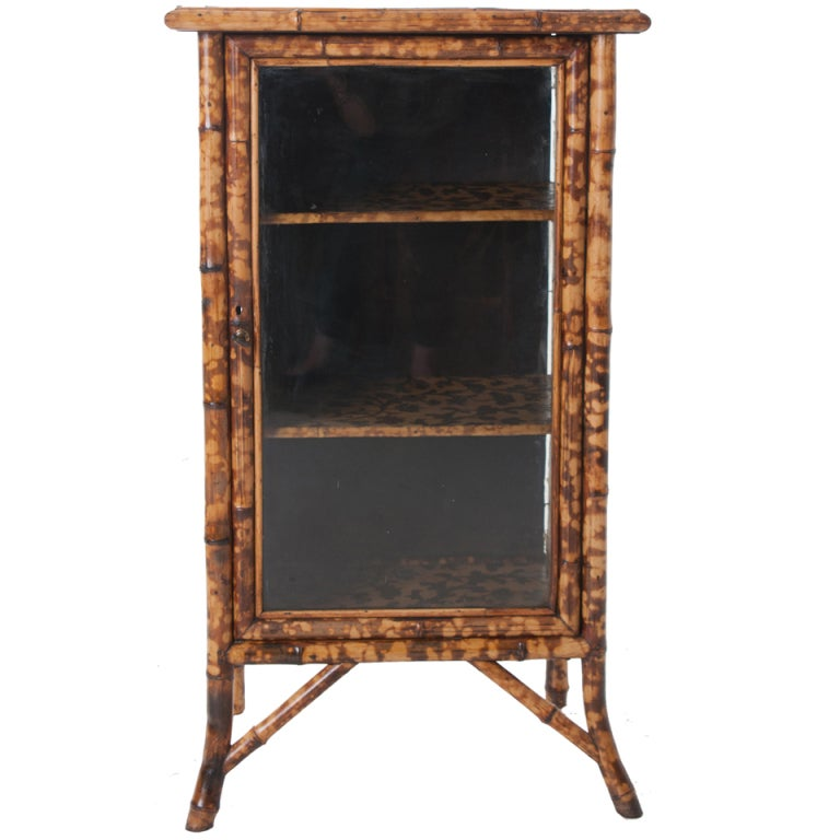 Moths In Kitchen Cabinets: English Moth Decoupage Bamboo Cabinet At 1stdibs
