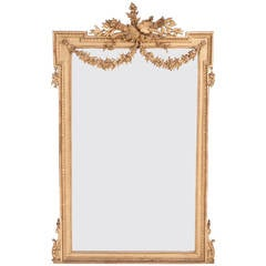 French 19th Century Louis XVI Gold Gilt Mirror