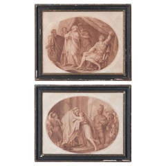 Pair of 18th Century Framed F. Bartolozzi Engravings
