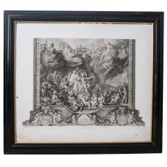 French 19th Century Lithograph of The Reign of Louis XIV