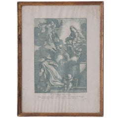 French 19th Century Lithograph of St. Philippe of Rome